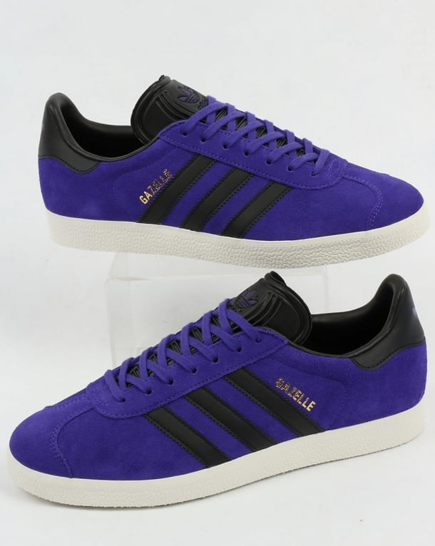 men's purple adidas gazelle trainers