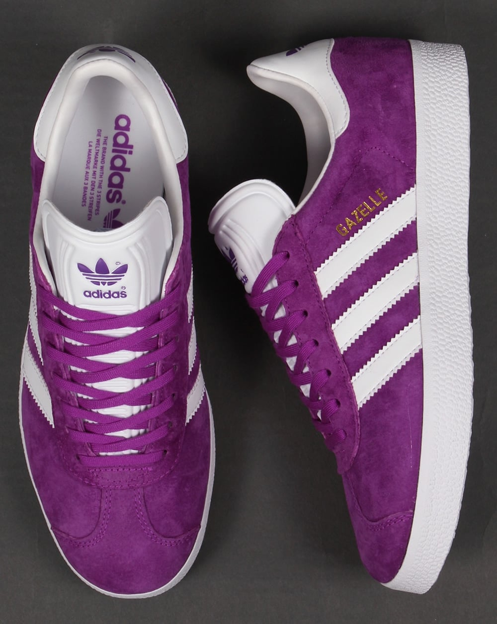 Mens Adidas Shoes Gazelle Purple