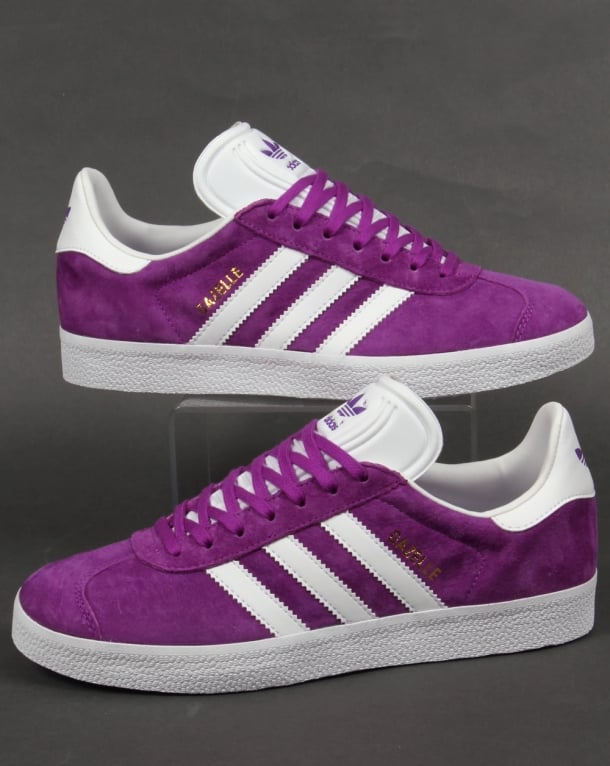 88a4a2e332a4 Adidas Gazelle Trainers Purple White