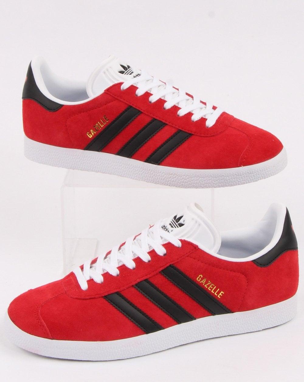Adidas Gazelle Trainers Red/Black