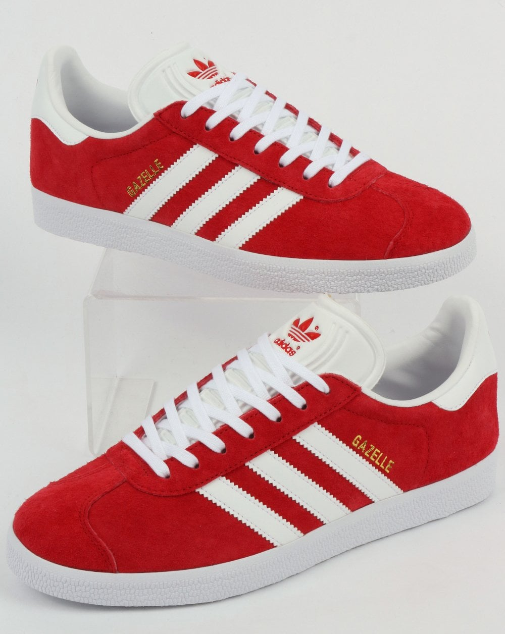 great fit 58cbf ddceb adidas Trainers Adidas Gazelle Trainers Red White