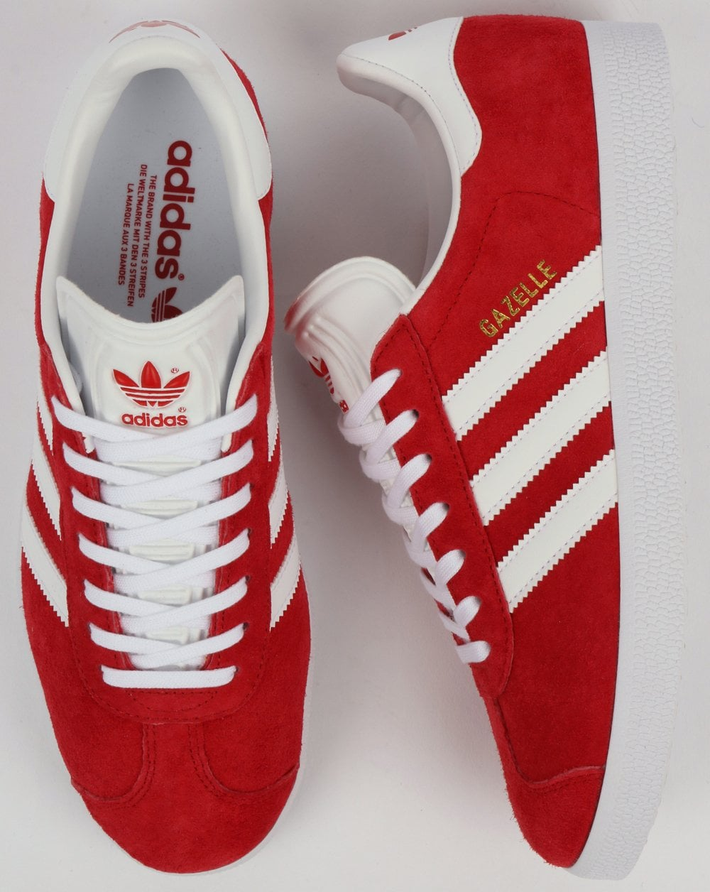 new arrival e9ba0 e617d Adidas Gazelle Trainers Red White