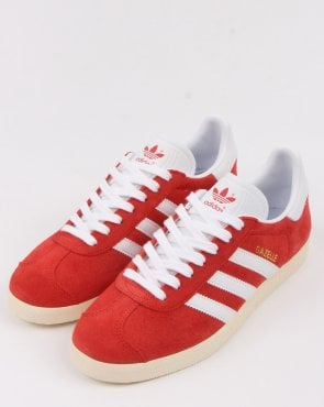 adidas Trainers Adidas Gazelle Trainers Red/white vintage