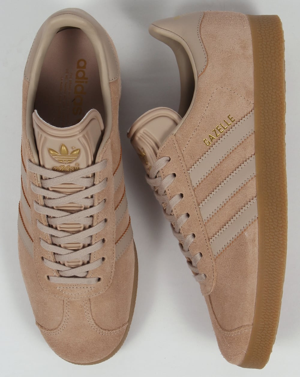 brown adidas gazelle trainers
