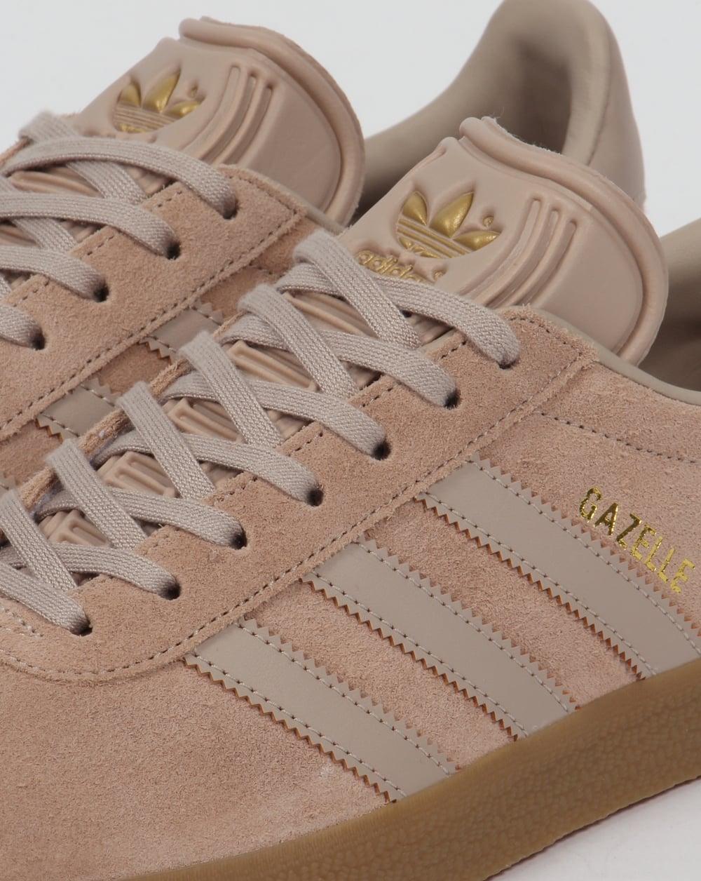 adidas originals gazelle black and pink gum sole trainers