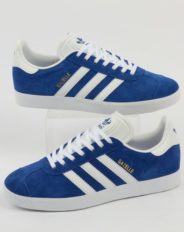 adidas gazelle blue and white
