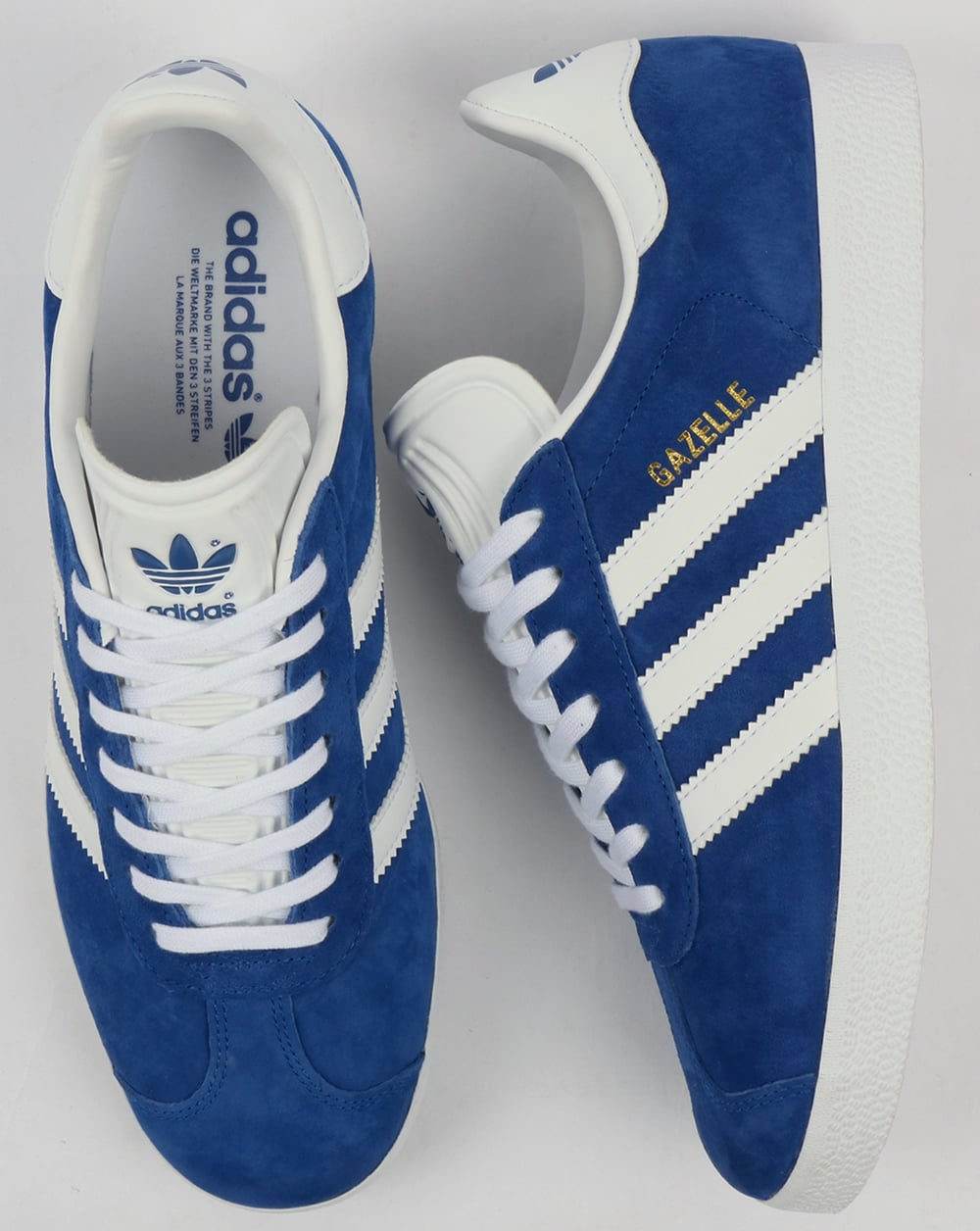 best authentic 2be31 4e25c adidas Trainers Adidas Gazelle Trainers Royal BlueWhite