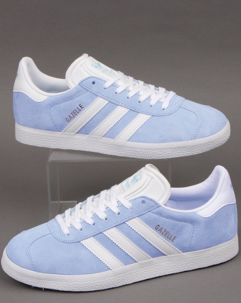 Adidas Gazelle Trainers Sky Blue/white