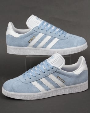 Adidas Trainers Adidas Gazelle Trainers Sky/White
