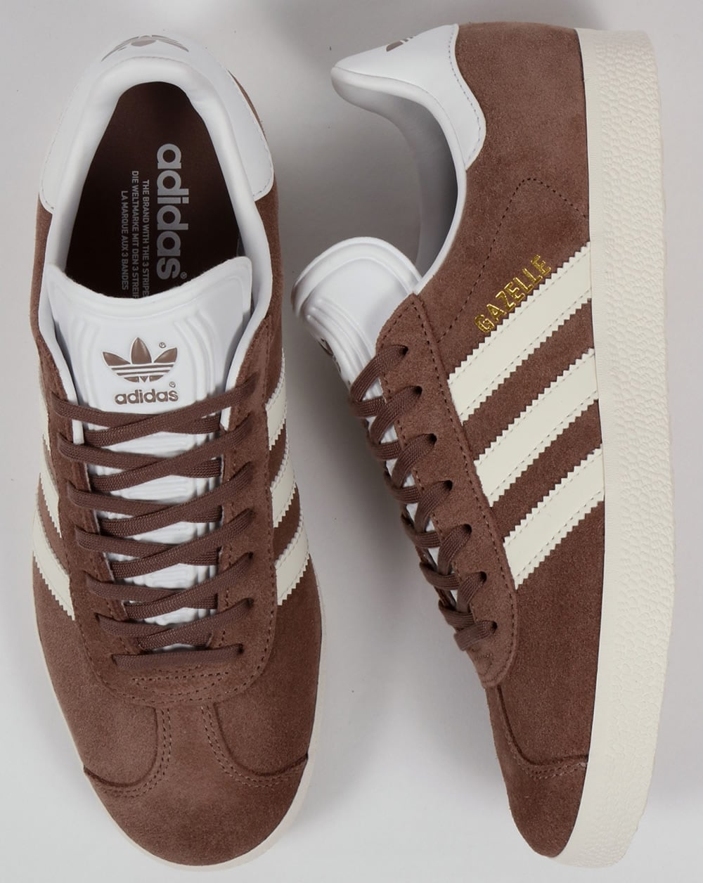 joyería Típico Abierto  Adidas Gazelle Trainers Trace Brown/Off White,originals,shoes,mens,sneakers
