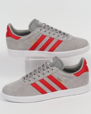 adidas Trainers Adidas Gazelle Trainers Solid Grey/Red
