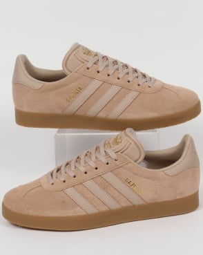 adidas Trainers Adidas Gazelle Trainers Stone Clay Gum Sole