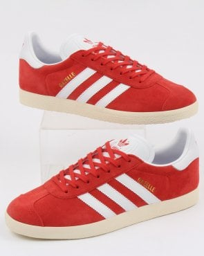 adidas Trainers Adidas Gazelle Trainers Tactile Red/white