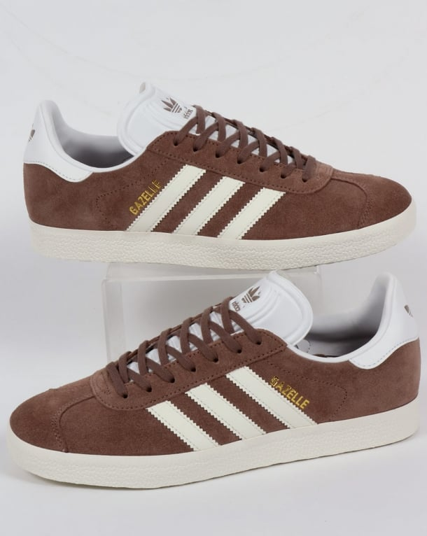 Adidas Gazelle Trainers Trace Brown/Off White