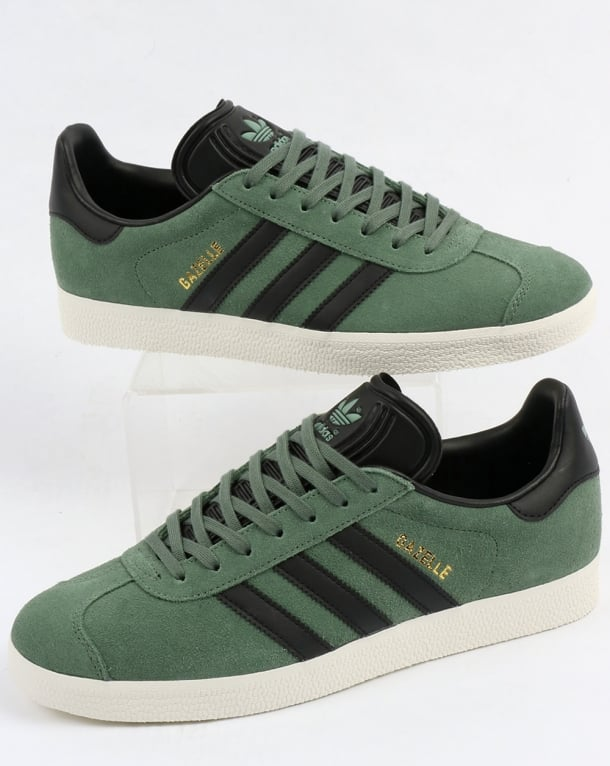 adidas gazelle trainers trace green white nz