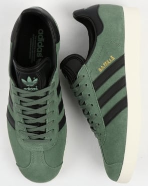 adidas Trainers Adidas Gazelle Trainers Trace Green/Black
