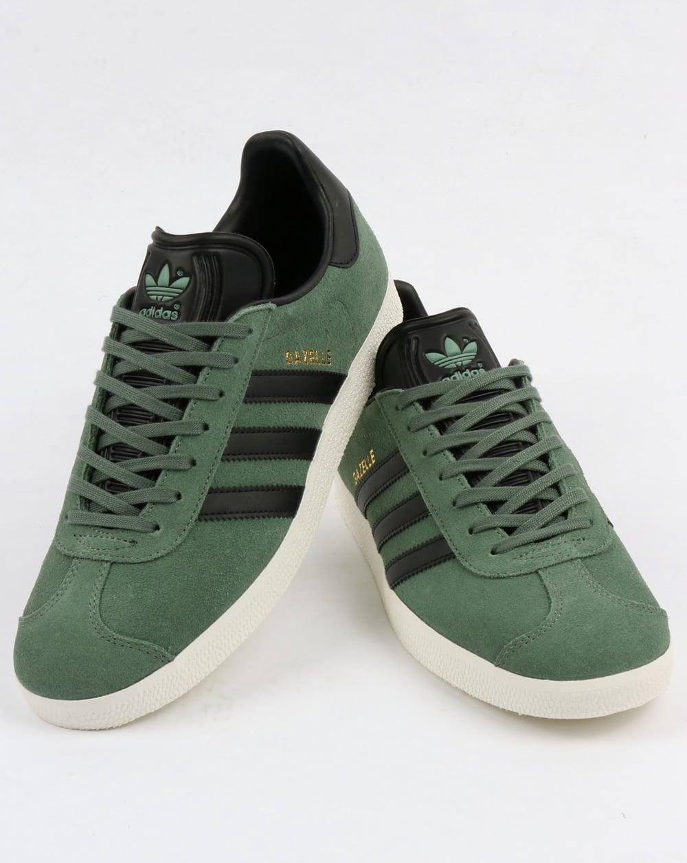 Adidas Originals Gazelle Indoor Shoes Dark Green Black