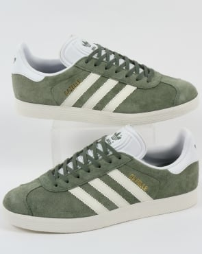 Adidas Gazelle Trainers Trace Green/Off White