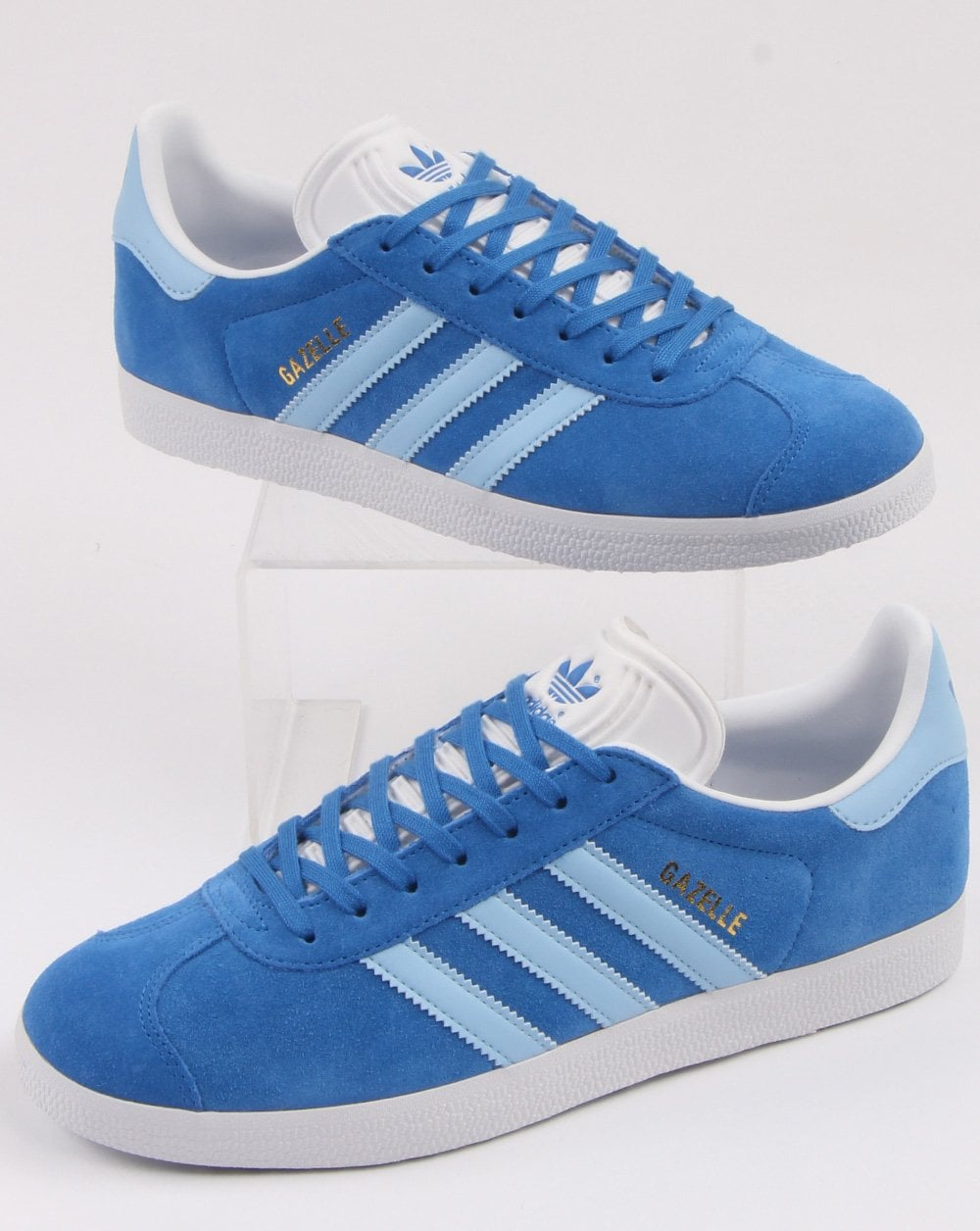 size 40 bb2b1 d920c adidas Trainers Adidas Gazelle Trainers True Blue Sky