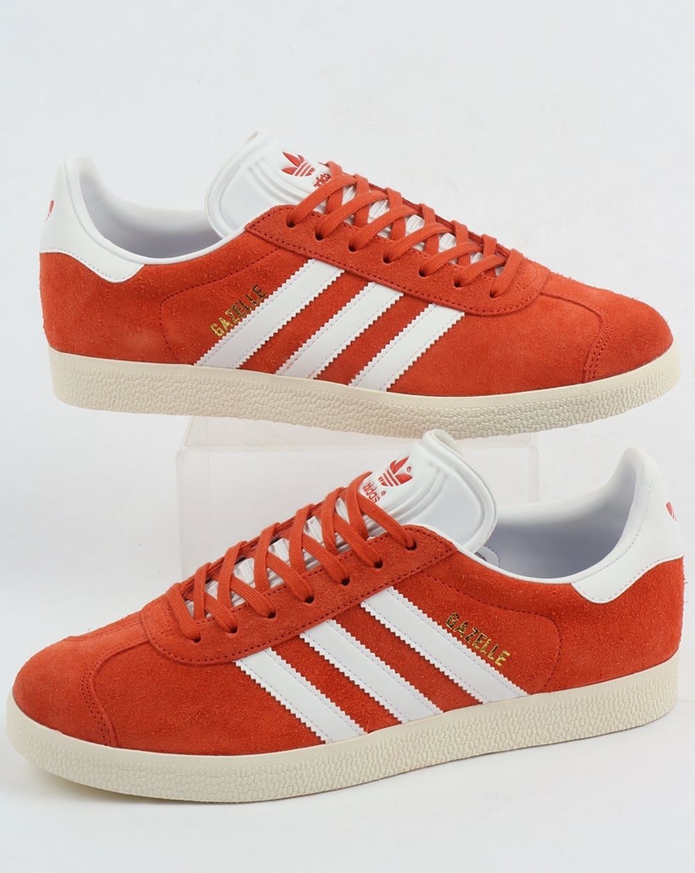 photos officielles 2fe85 6fd75 Adidas Gazelle Trainers Vintage Orange/White