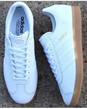 timeless design 4ea5c e190c adidas Trainers Adidas Gazelle Trainers White Leather - Gum