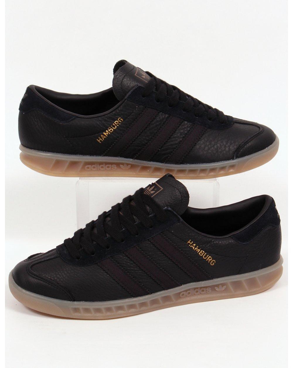 best website 60649 e8566 adidas Trainers Adidas Hamburg Leather Trainers Blackgum