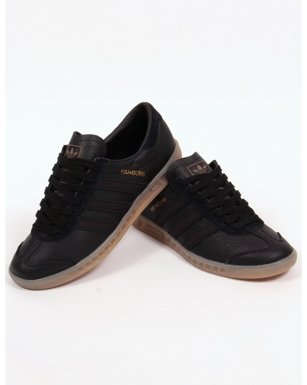 adidas hamburgs black leather