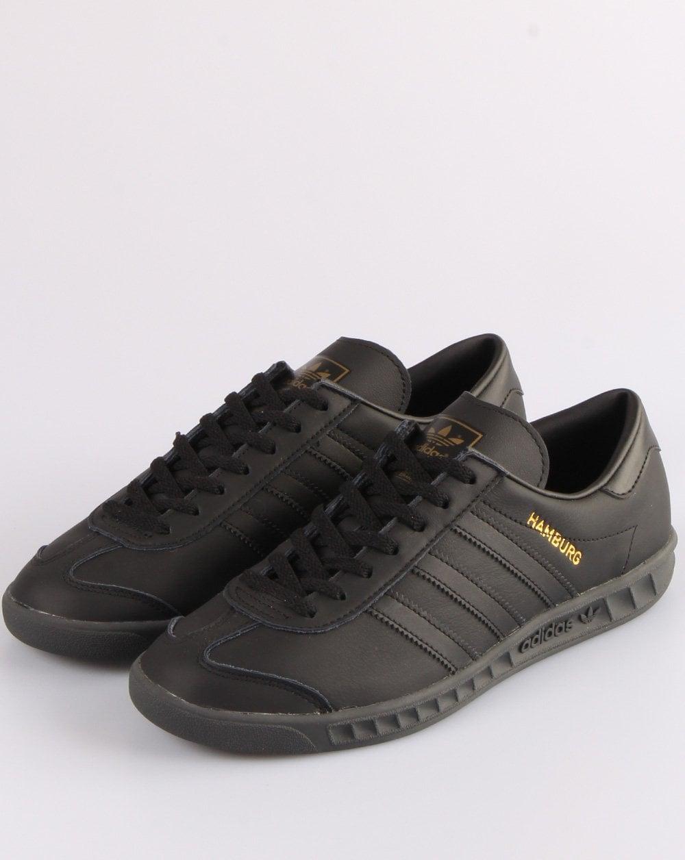 Adidas Hamburg Leather Trainers Black