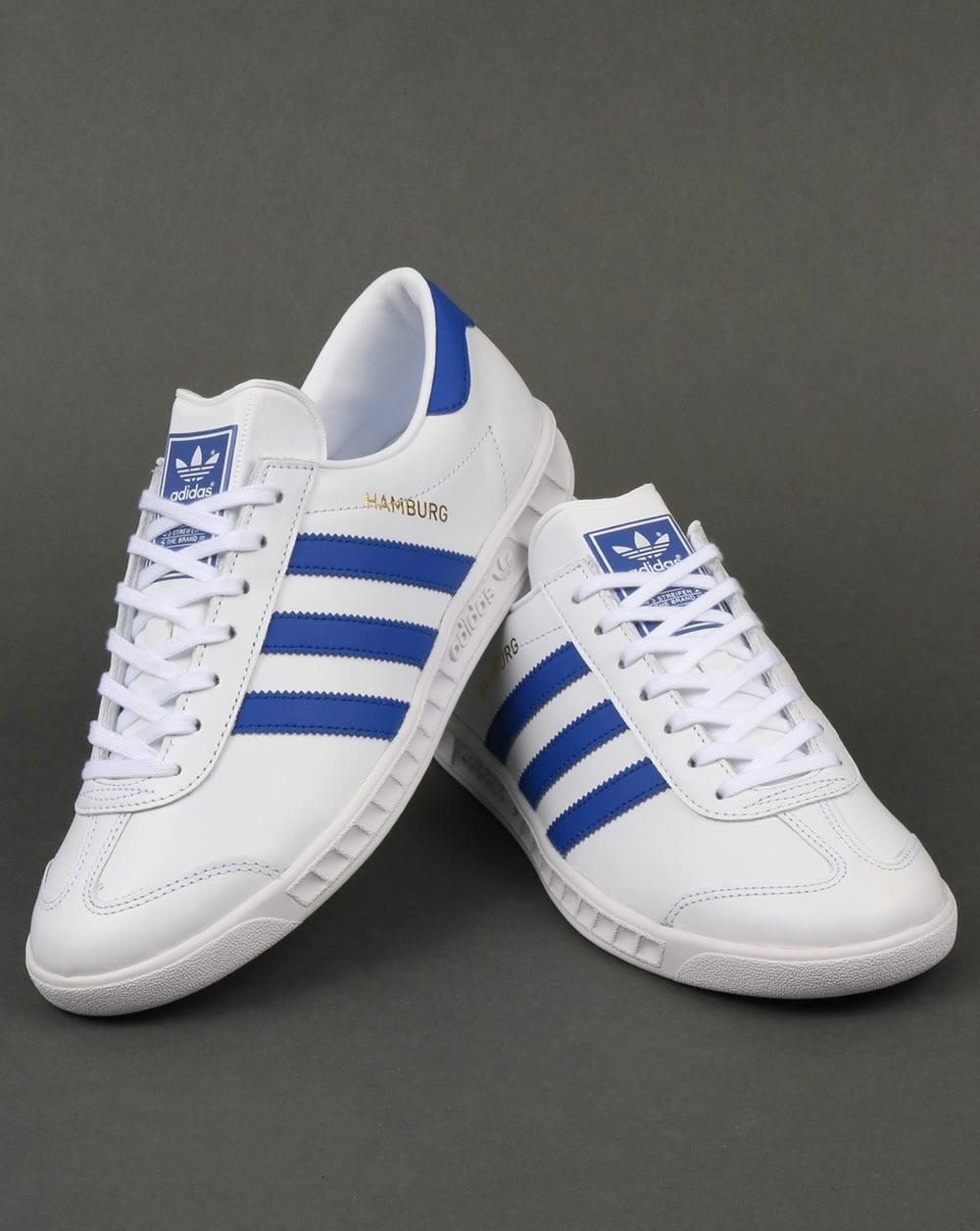 Adidas Hamburg Trainers White/Bold Blue