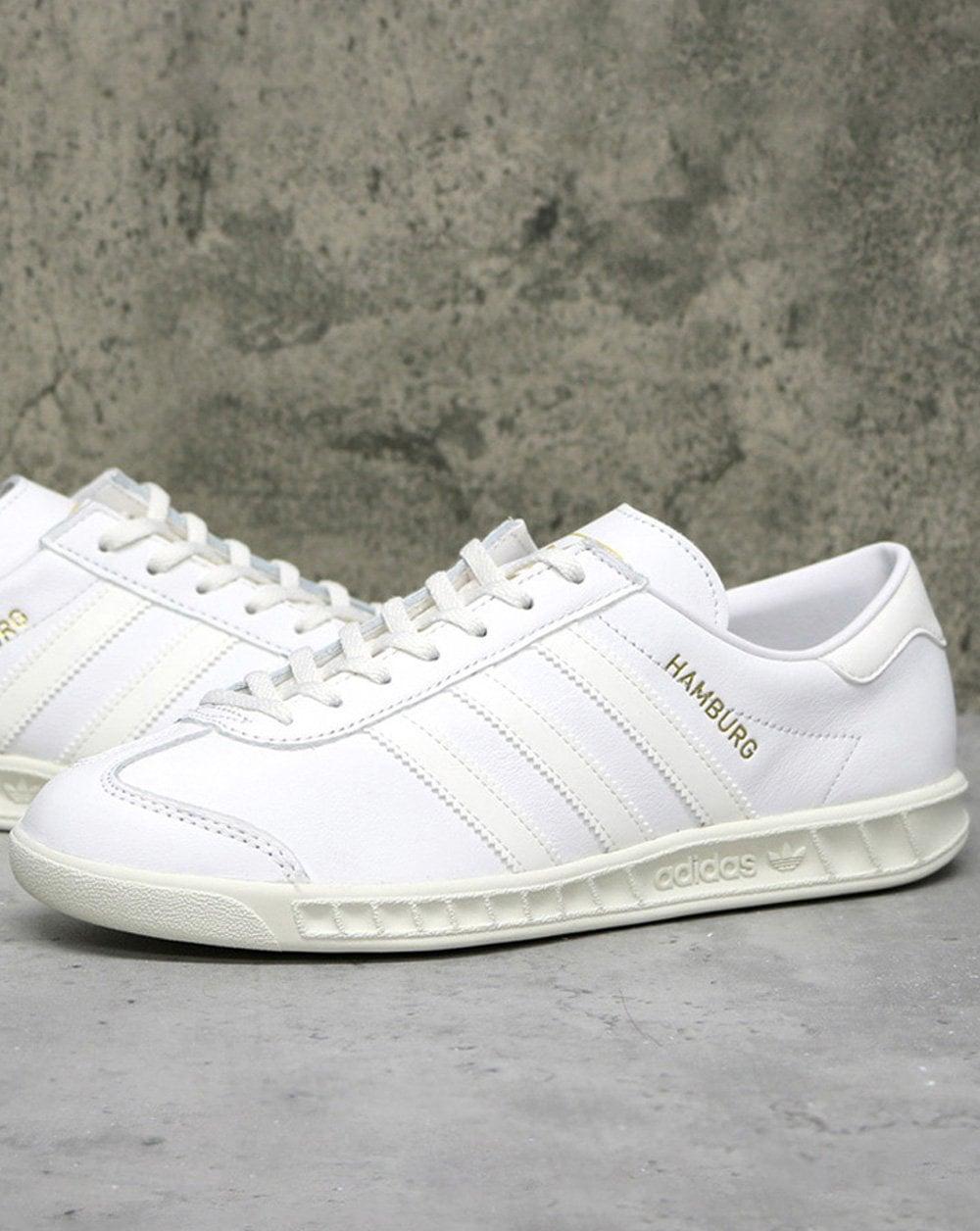 Adidas Hamburg Leather Trainers White