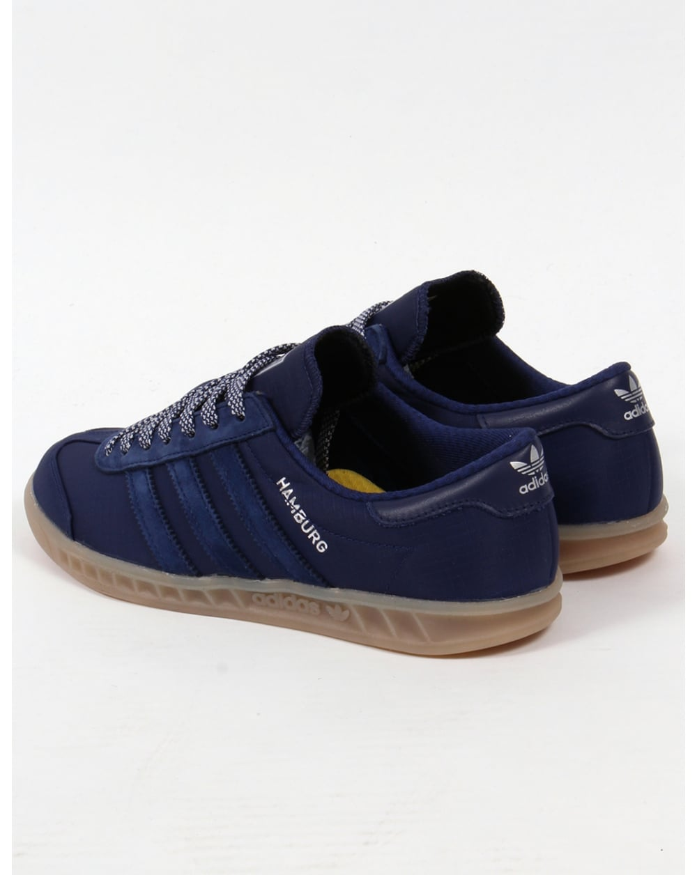 adidas originals hamburg tech trainers in black