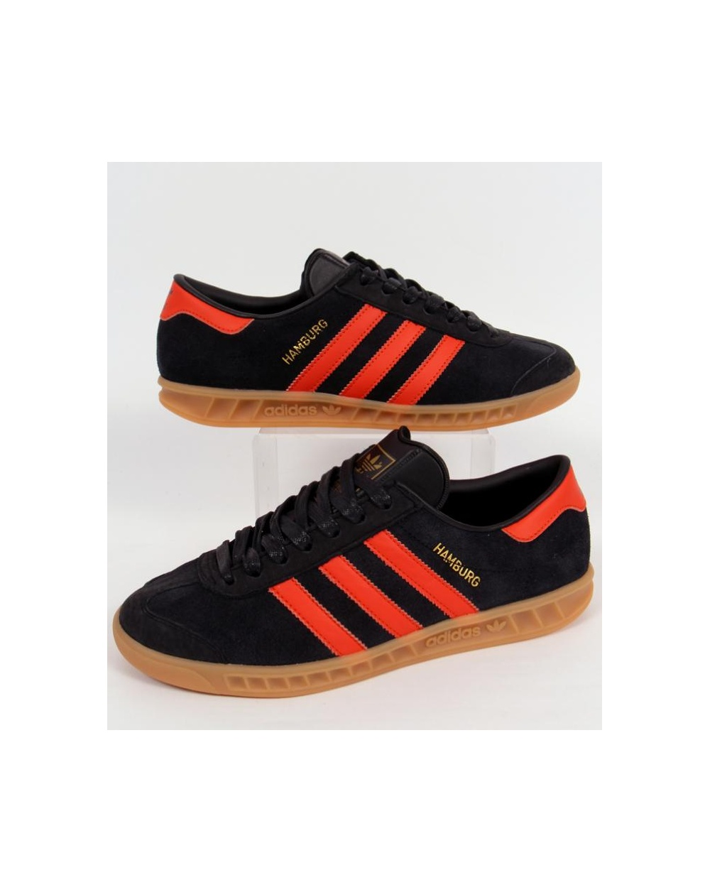 adidas black and orange trainers
