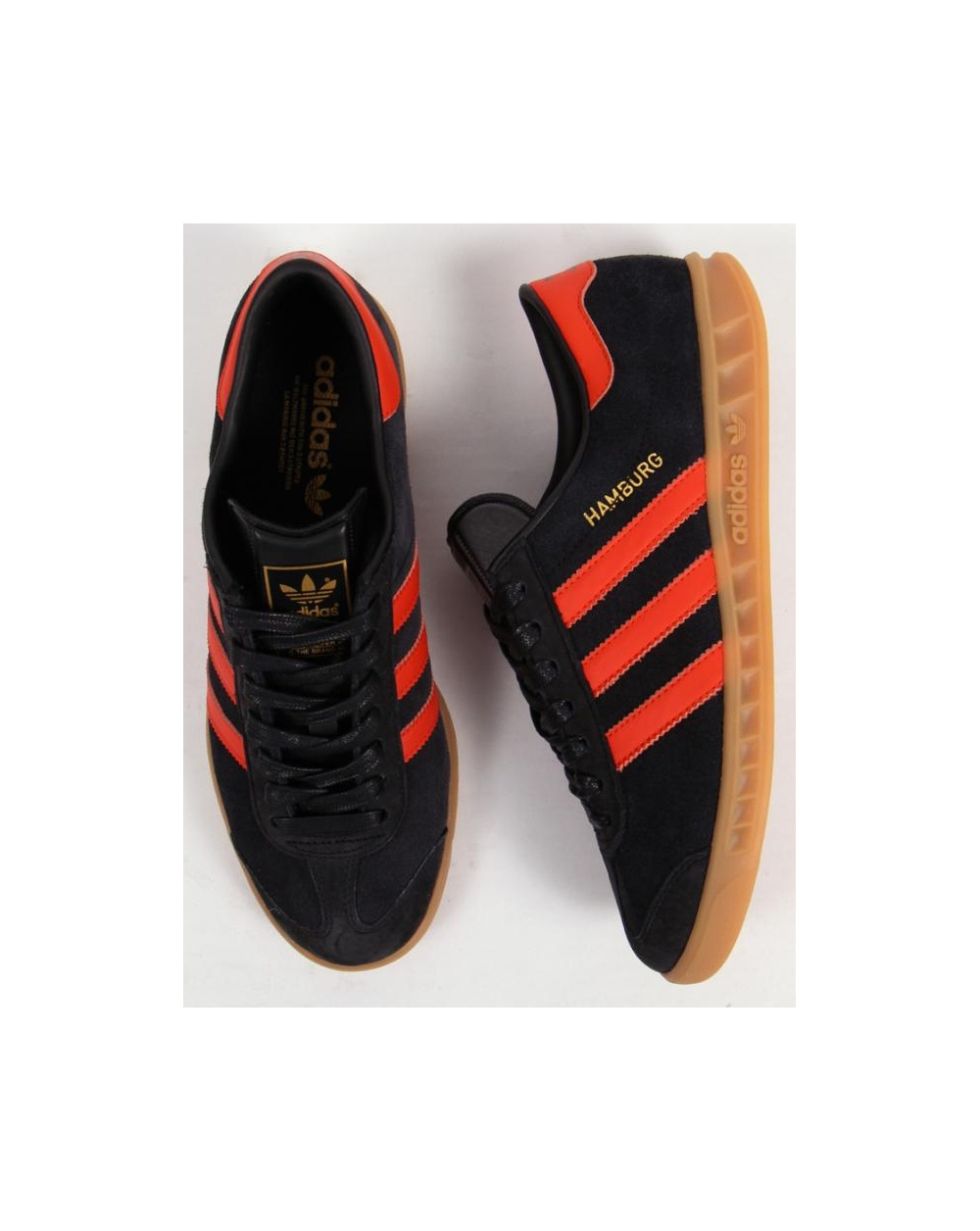 adidas hamburg shoes black and orange