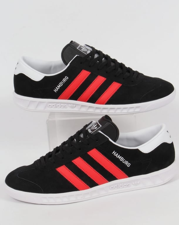 Adidas Hamburg Trainers Black/Red/White