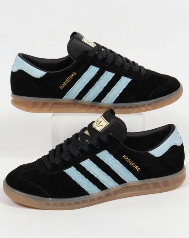 Adidas Hamburg Trainers Black/Sky Blue