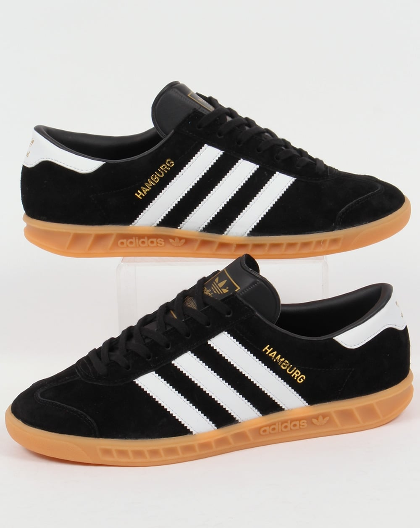 Adidas Hamburg Trainers BlackWhiteGum