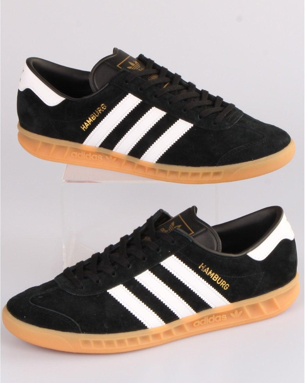 Adidas Hamburg Trainers Black/White/Gum