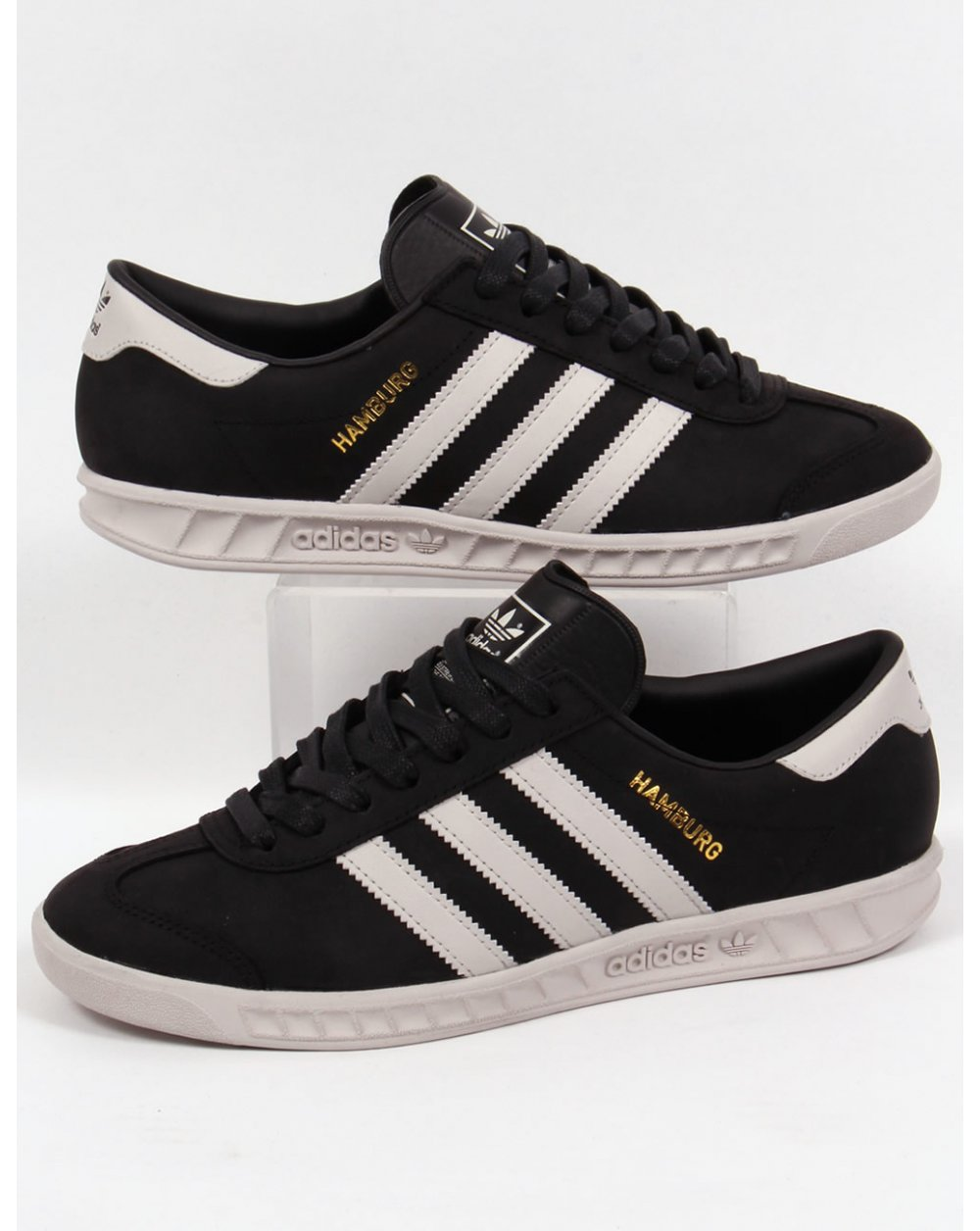 8f75309ebda37 Adidas Hamburg Trainers Black/white