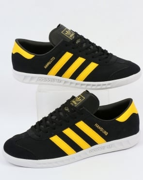 adidas Trainers Adidas Hamburg Trainers Black/Yellow/White