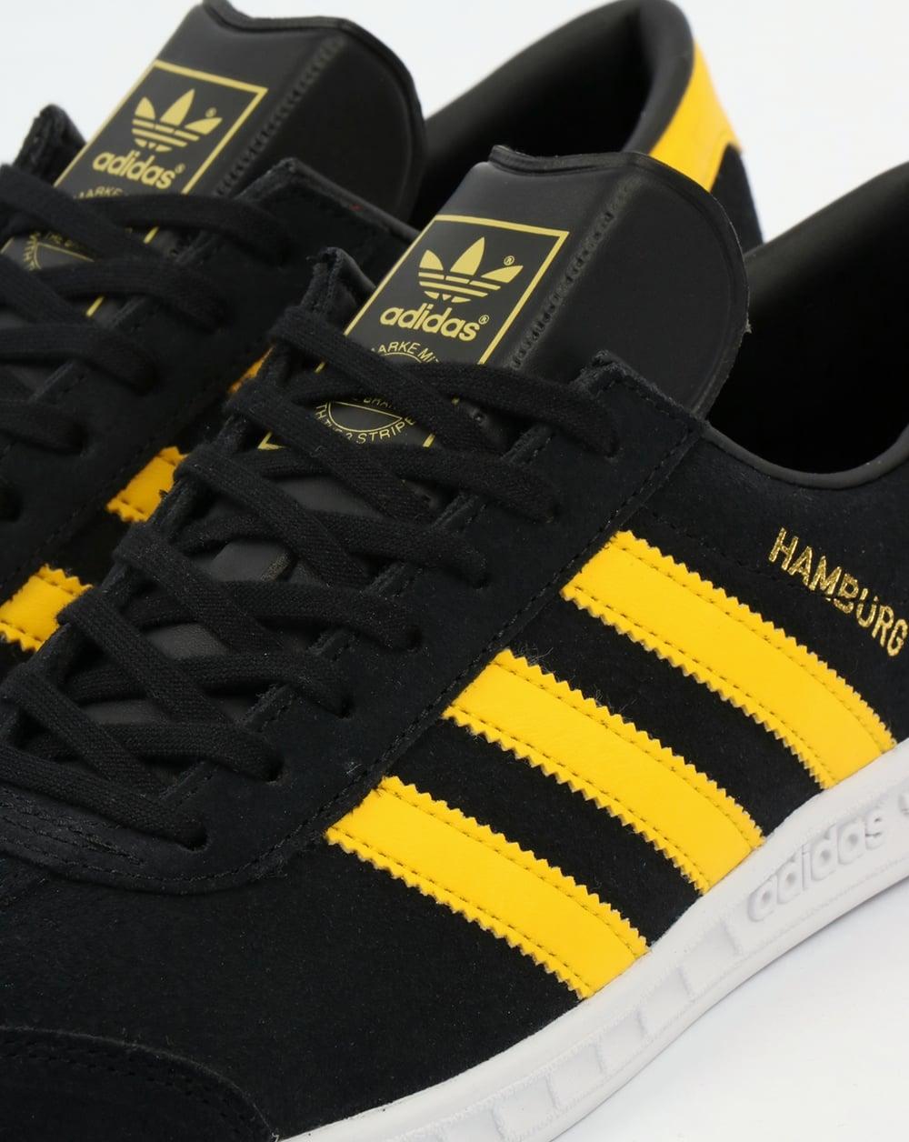 adidas originals hamburg trainers yellow