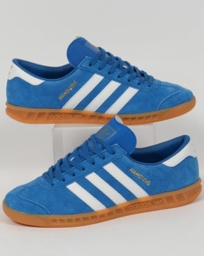 adidas Trainers Adidas Hamburg Trainers Bluebird Blue/White