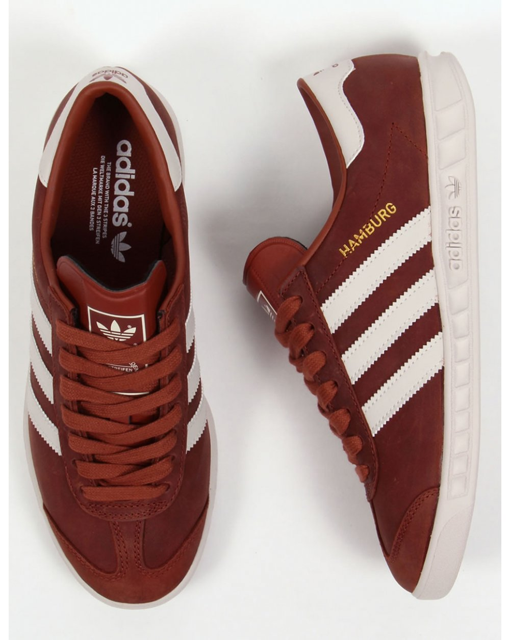 Details about Adidas Marathon Trainer Brown&Cream Trim Leather Athletic Shoes Men's 10