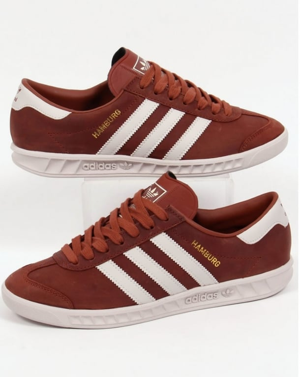 adidas hamburg trainers brown cream leather originals. Black Bedroom Furniture Sets. Home Design Ideas