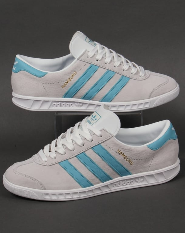 Adidas Hamburg Trainers Crystal White/Sky