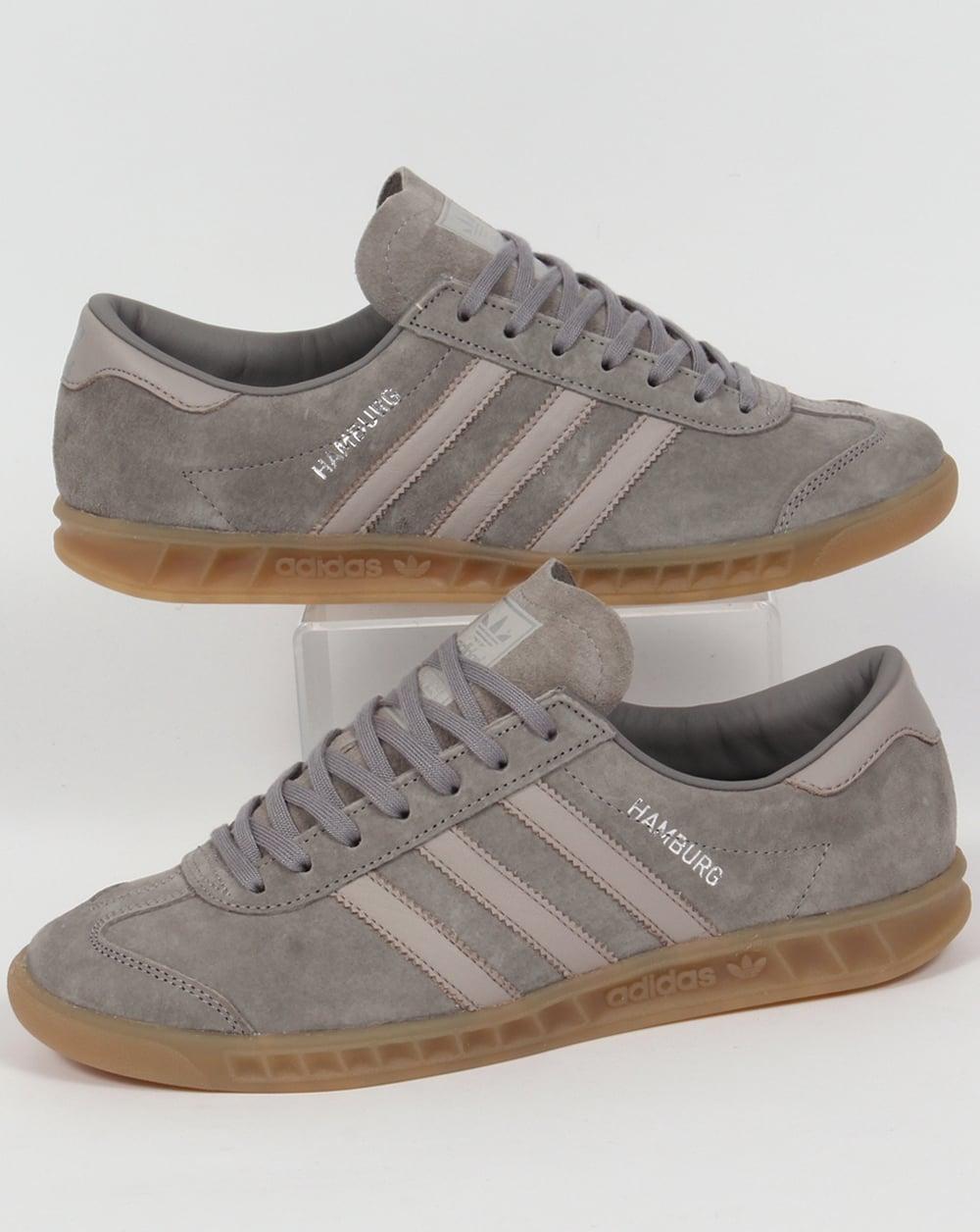 Adidas Hamburg Trainers Greygranite Clearoriginalsmens Granite Grey