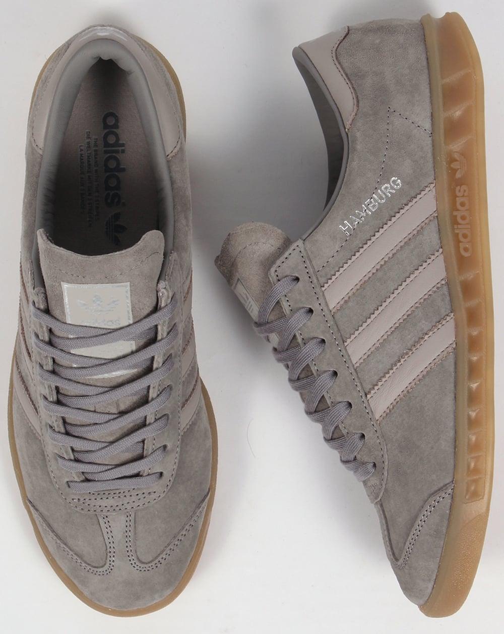 timeless design 86c53 5cfa6 Adidas Hamburg Trainers Granite Grey