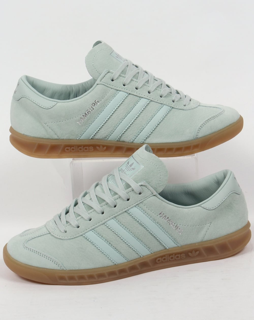 3b71c0326ced adidas Trainers Adidas Hamburg Trainers Green Chalk