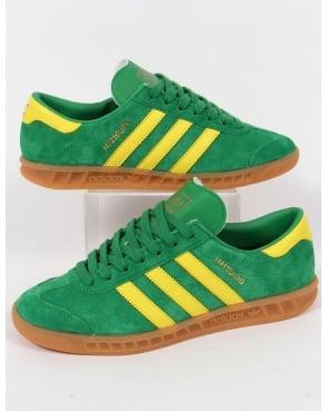 Adidas Trainers Adidas Hamburg Trainers Green/Yellow
