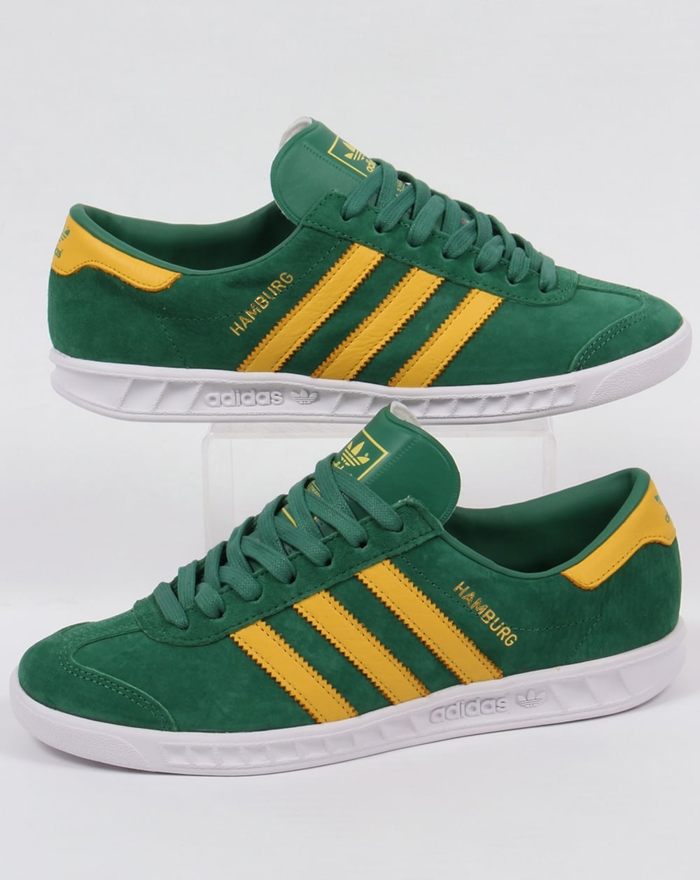 187afce8aa9fcb adidas Trainers Adidas Hamburg Trainers Green Yellow White
