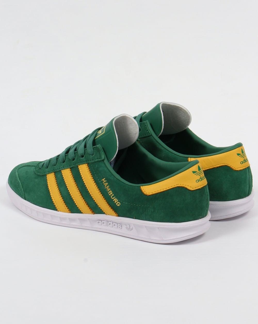 Adidas Hamburg Trainers Green/Yellow